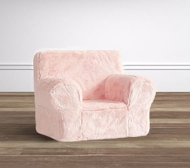 Pink Faux Fur Anywhere Chair 174 Pottery Barn Kids