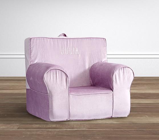 Shimmer Velvet Lavender Anywhere Chair 174 Pottery Barn Kids