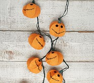 Burlap Pumpkin String Lights