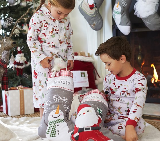 Pottery Barn Kids Solid Red Quilted Stocking: Quilted Stocking Collection