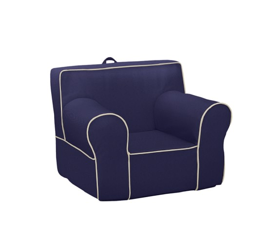 Navy With Stone Piping Anywhere Chair 174 Pottery Barn Kids