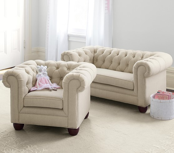 chesterfield mini sofa pottery barn kids. Black Bedroom Furniture Sets. Home Design Ideas