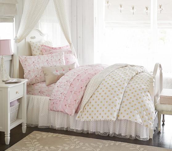 ballerina sheet set pottery barn kids. Black Bedroom Furniture Sets. Home Design Ideas