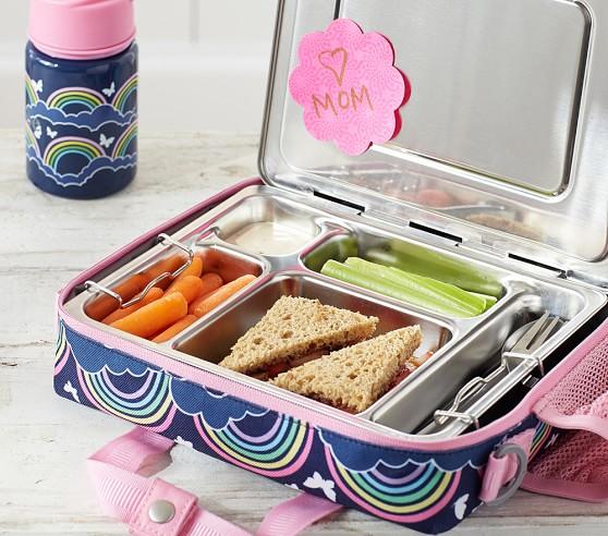 mackenzie pink glitter heart all in one lunch bag pottery barn kids. Black Bedroom Furniture Sets. Home Design Ideas