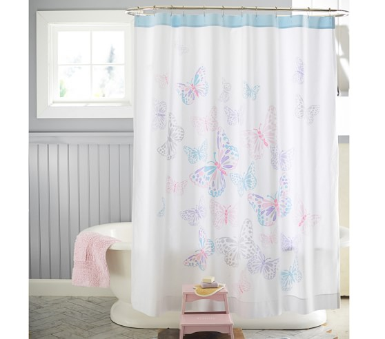 butterfly shower curtain pottery barn kids