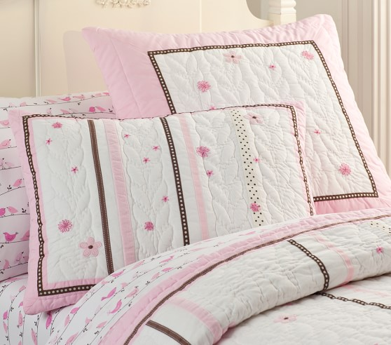 Hannah Ribbon Quilted Bedding Pottery Barn Kids
