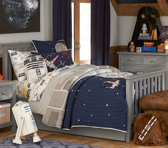 star wars millennium falcon quilted bedding pottery barn kids. Black Bedroom Furniture Sets. Home Design Ideas