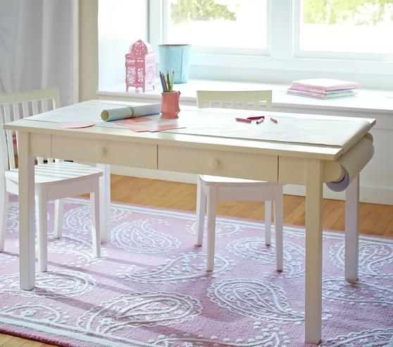 Carolina grow with you craft table pottery barn kids for Craft tables for kids