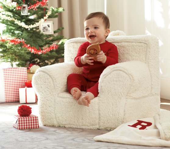 Cream Sherpa My First Anywhere Chair 174 Pottery Barn Kids