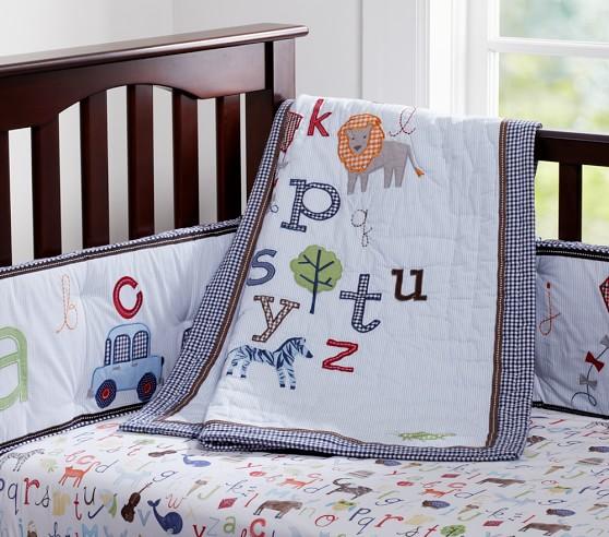 Alphabet Animal Crib Bedding