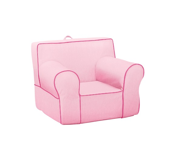 Pink With Bright Pink Piping Anywhere Chair 174 Pottery