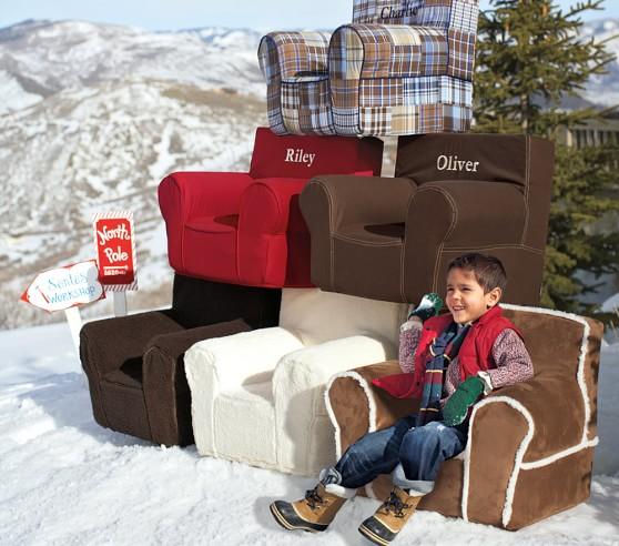 Cream Sherpa Anywhere Chair 174 Pottery Barn Kids