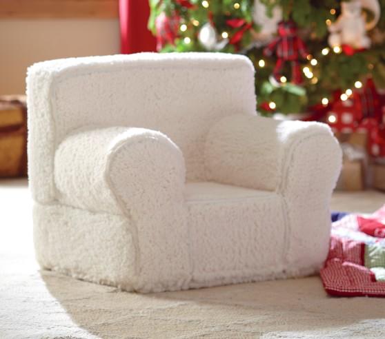 Cream Sherpa My First Anywhere Chair 174 Pottery Barn Kids