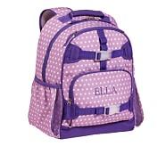 Mackenzie Lavender Dot Backpack, Large