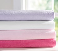 Chamois Fitted Sheet, Full, White