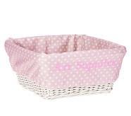 Medium Sabrina Basket Mini Dot Liner, Pink Mini Dot