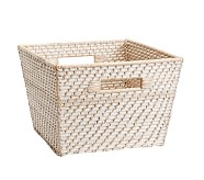 Large Quinn White Washed Basket
