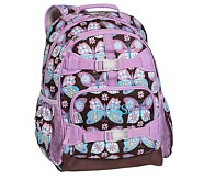 Mackenzie Lavender Butterfly Backpack, Large
