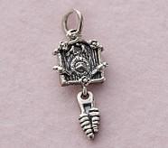 Cuckoo Clock Silver Necklace, January