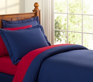 Organic Cotton Duvet Cover, Twin, Navy