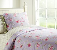 Savannah Floral Duvet Cover, Twin