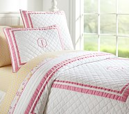Harper Quilt, Twin, Bright Pink