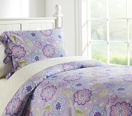 Samantha Duvet Cover, Twin, Lavender