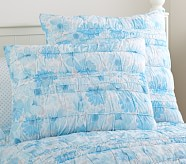Lillian Floral Standard Quilted Sham, Blue