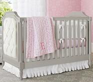 Isabelle Nursery Bedding Set: Toddler Quilt, Crib Skirt & Crib Fitted Sheet, Aqua