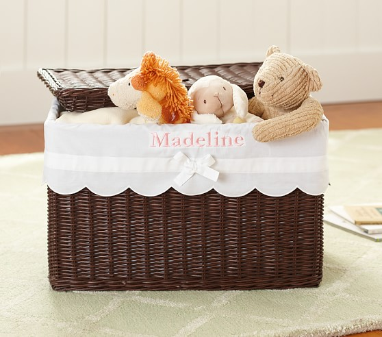 Scallop Toy Chest Liner