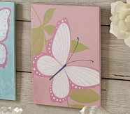 Bright Pink Butterfly Plaque