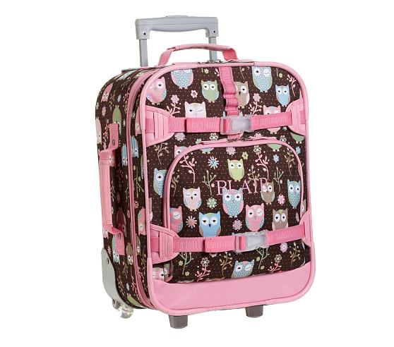 Mackenzie Chocolate Owl Small Luggage
