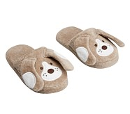 Khaki Puppy Slippers S (6-9)