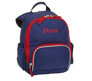 Pre-K Backpack, Fairfax Solid Navy/Red, No Patch