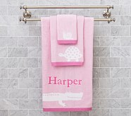 Alligator Wash Cloth, Pink