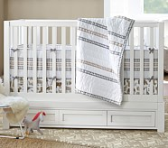 Skylar Nursery Bedding Set: Toddler Quilt, Crib Skirt & Crib Fitted Sheet