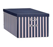 Jumbo Box, Navy Stripe