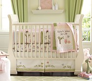 Hayley Nursery Bedding Set, Includes, Crib Fitted Sheet, Toddler Quilt & Crib Skirt
