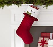 Ruffle Luxe Velvet Stocking