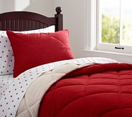 Cozy Plush Comforter, Twin, Red