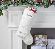 Santa Glitter Stocking