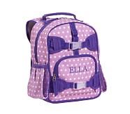 Mackenzie Lavender Dot Preschool Backpack