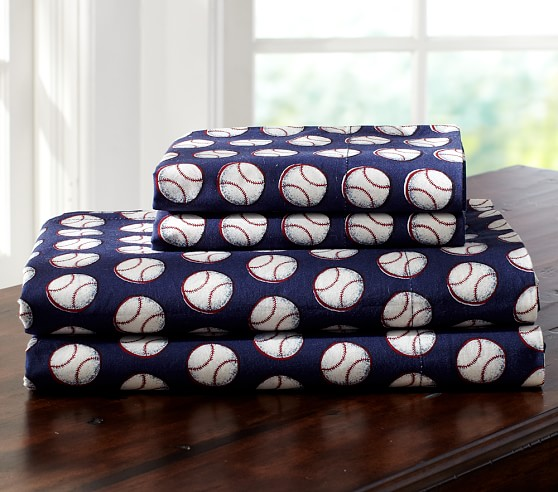 Rugby Recess Sheet Set, Twin, Baseball