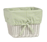 Large Gingham Liner, Green