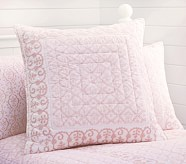 Isabelle Euro Quilted Sham, Pink