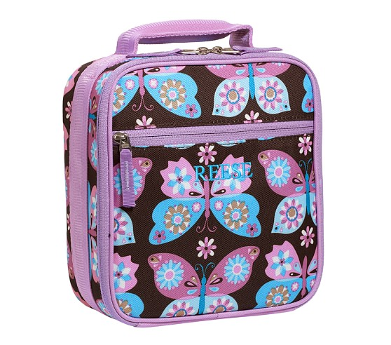 Mackenzie Lavender Butterfly Classic Lunch Bag