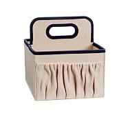 Navy Linen Canvas Nursery Storage, Caddy Storage