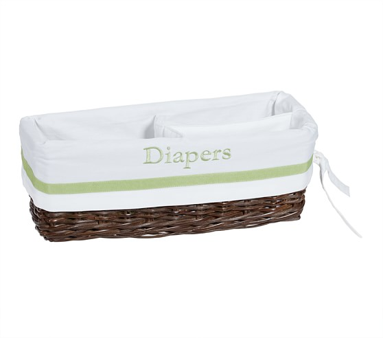 Green Harper Changing Table Basket Liner