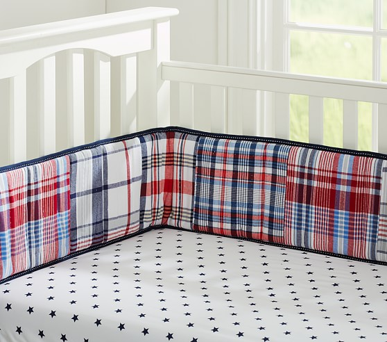 Star Crib Fitted Sheet, Navy
