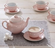 Pink Ceramic Classic Tea Set